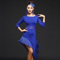 2017 Competition Dance Clothing One Piece Dress Costume Set Salsa Dresses Ballroom Dance Women Long Latin