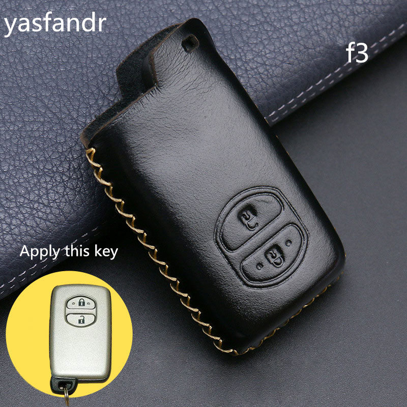 Image 5 - 2 Buttons Car Key Holder Case Cover for TOYOTA Camry Highlander Crown Prado Land Cruiser Hilux Prius car key cover shell-in Key Case for Car from Automobiles & Motorcycles