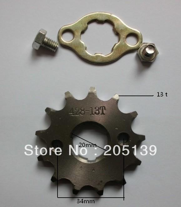 NEW 13t 13tooth 20MM sprocket tandwiel FOR 428 CHAIN motorcycle MOTO <font><b>pitbike</b></font> dirt ATV parts bike <font><b>125cc</b></font> 150cc image