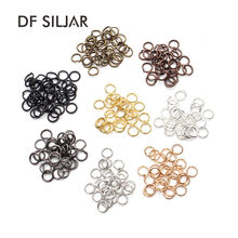 100pcs/lot 4/5/6/7/8mm Antique Bronze Silver Gold Open Jump Rings Connectors Mix Colored Split Ring Connector DIY Jewelry Y517(China)