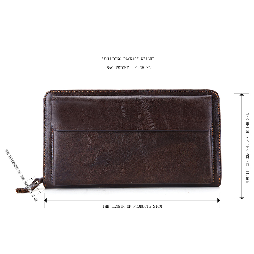 JOYIR Wallet Men Leather Genuine Vintage Coin Purse ZipperHasp Men Wallets