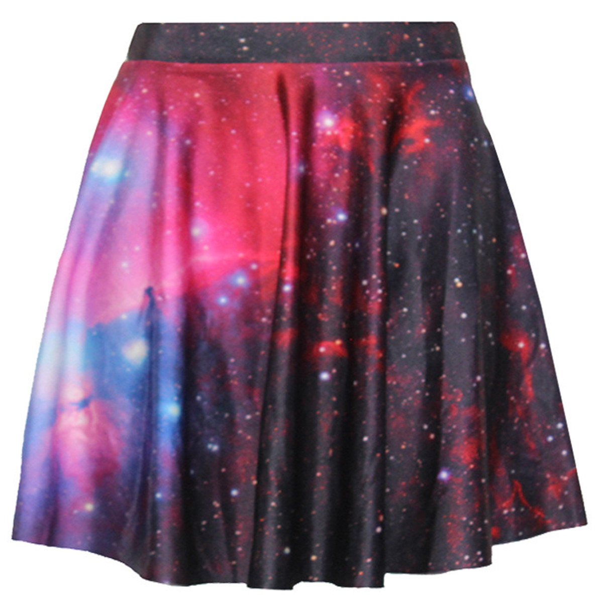 midi skirt s summer clothing nebula galaxy