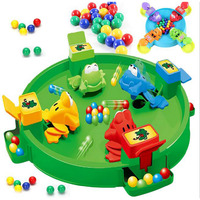 Novelty Frogs Eating Balls Play Toy Set Table Game 2 4 Players, Interactive Game Emulational Frogs 3D Battle Board Game for kid