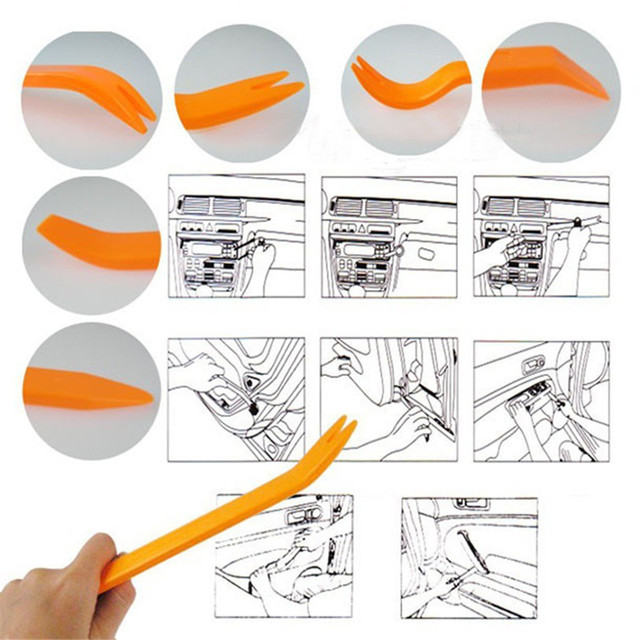 4Pcs/Set Portable Car Stereo Removal Tools Auto Accessories Interior Door Panel Removal Tool Install Soundproofing Repair Tool