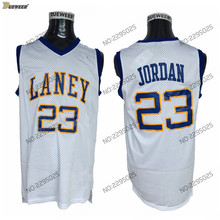 62426f9d89fefc DUEWEER Mens Michael Jordan Laney High School Basketball Jerseys Cheap  White  23 Michael Jordan Stitched