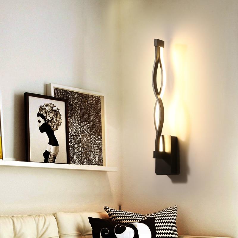 New design black white LED Wall Lights Living Room Bedroom LED Indoor Wall Lamp Modern Home