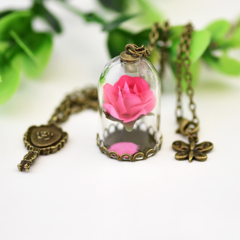 2017 za red rose b vial necklace little prince rose pendant 2017 za red rose b vial necklace little prince rose pendant necklace retro crystal natural dried flowers necklace wholesale in pendant necklaces from mozeypictures Image collections