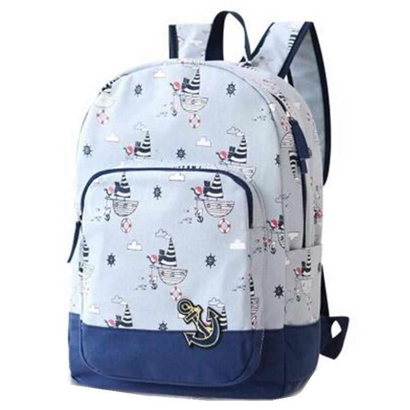 New 2017 Fashion Women Backpack Female Casual Travel Bag Mochila Feminina Schoolbag Canvas Backpacks Free Drop