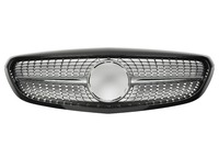 For Mercedes Benz C class W205 2014 on with Emblem Classic Style AMG Diamond Look Black/silver/chrome Front Grille