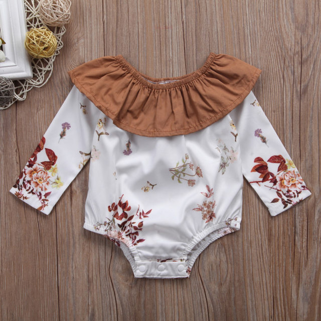 8a3ade2eda8b Online Shop Pudcoco Cute Newborn Infant Baby Girls Floral Romper ...