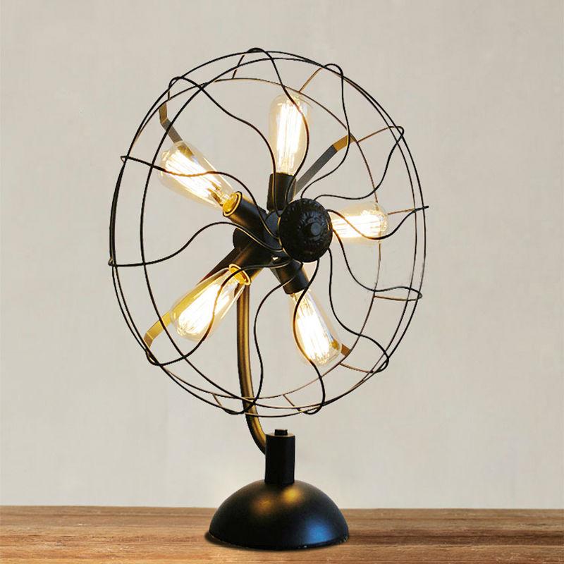 Iron Fan Table Lamps 15