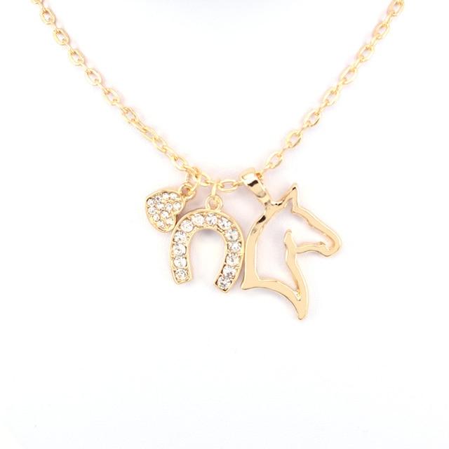 Unicorn Three Pendant Necklaces