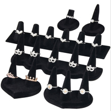 Hot selling 6 Size Velvet Resin Ring Frame Jewelry Pendants Rings Display Moda Counter Ornaments Display Props Ring Bracket цена