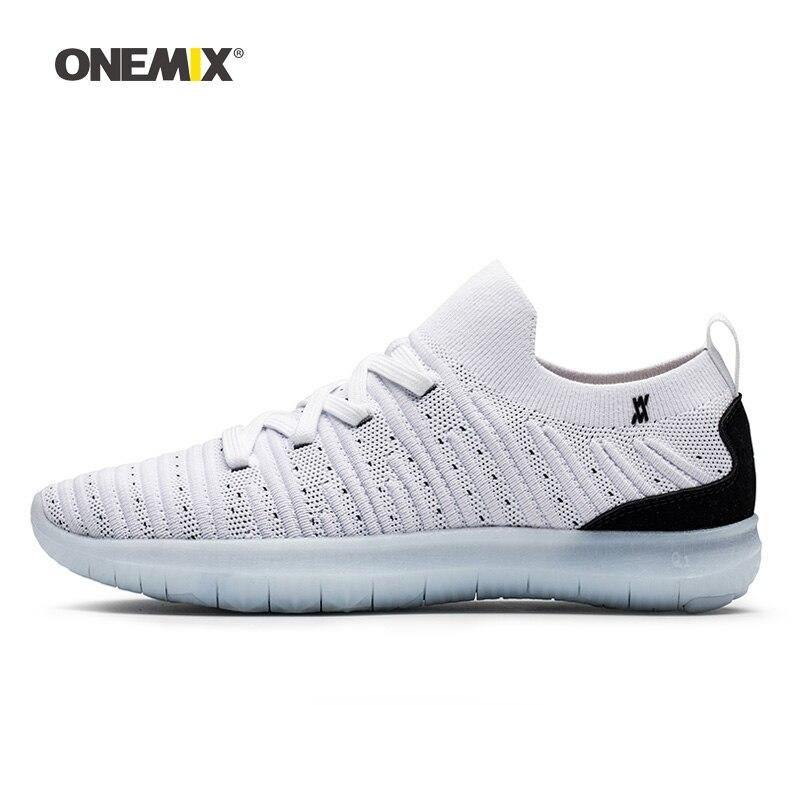 ONEMIX femmes chaussures de course pour hommes belle tendance baskets athlétiques respirant Zapatillas chaussures de sport mocassins légers chaussures de marche