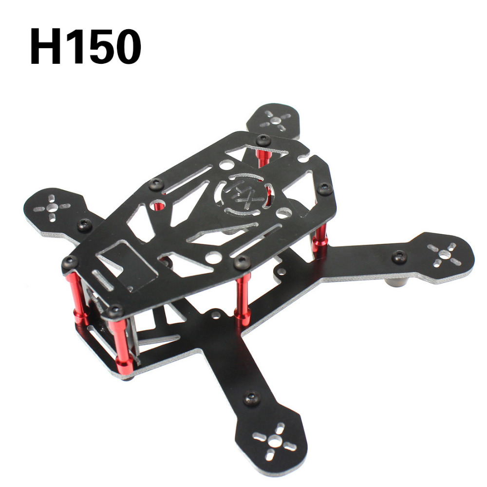 F16895/96 DIY H150 Mini Racing Drone 150mm Wheelbase Quadcopter Carbon / Glass Fiber Frame Kit for FPV