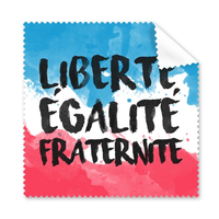 5 Pcs Liberte Egalite Fraternite France National Flag Custom Landscape Pattern Glasses Cloth Cleaning Cloth Phone