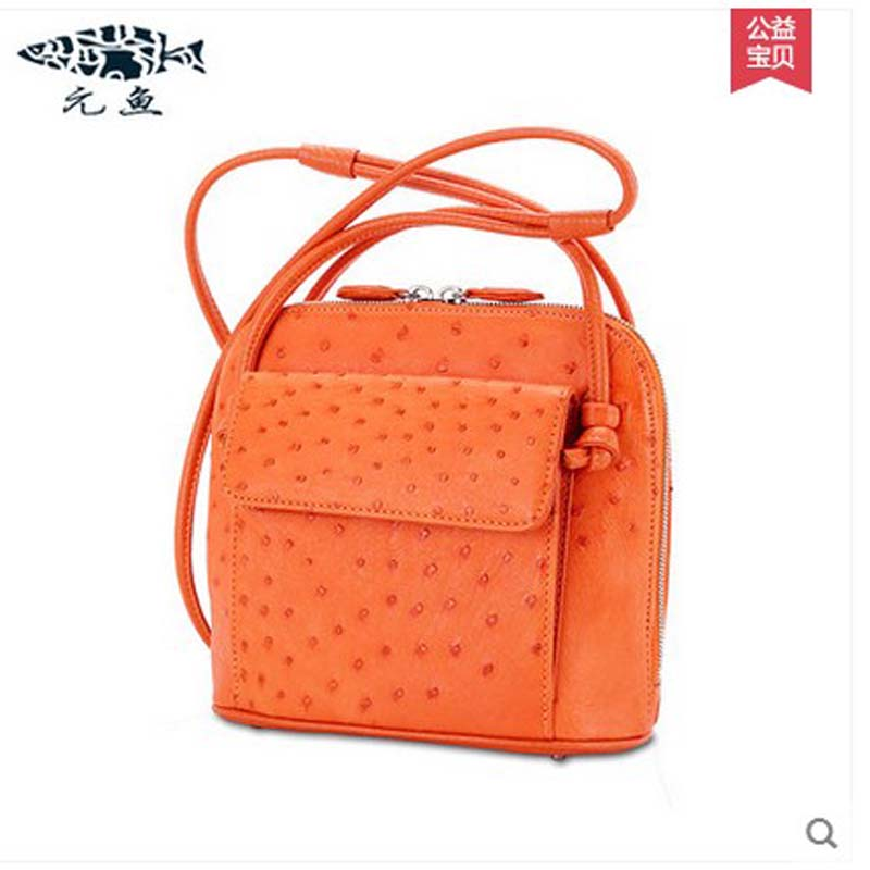 yuanyu new ostrich leather bag single shoulder bag leather inclined women bag fashion leisure contracted small women package yuanyu real snake skin women bag new decorative pattern women chain bag fashion inclined single shoulder women bag