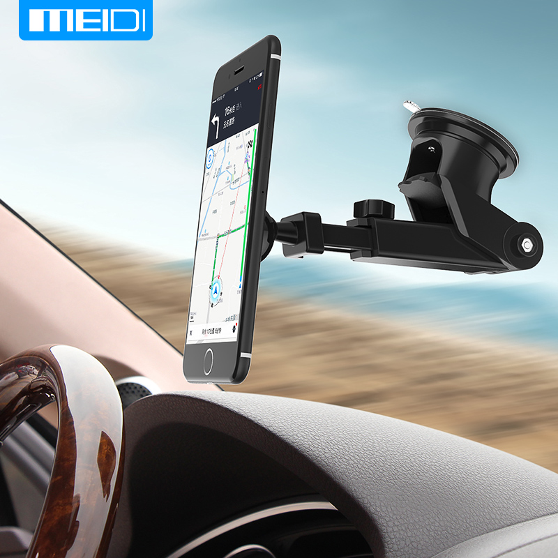 MEIDI Holder For Phone In Car windshield mount bracket 360 Adjustable Phone Bracket For iPhone7 6S GPS Suporte Movil Car