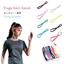 Yoga Hair Ribbon Elastic Rope Candy Color Running Anti-slip Rubber Sports Headband Football Non-Slip Accessories Unisex