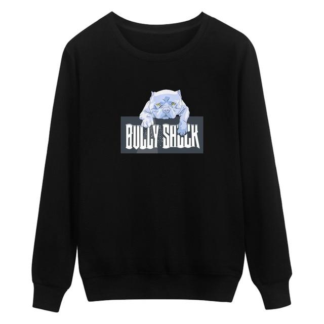 belldog the cool print hoodies black men/women xxs clidren size