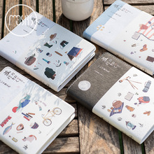 Japanese Stationery Travel Diary Leather Notebook DIY Planner Agendas Diary Monthly Daily Plan Book Travel's Notebook Gift