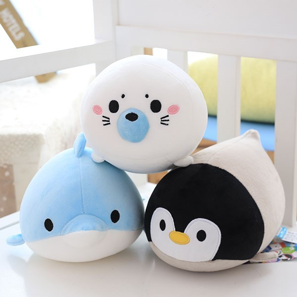 Cute Dolphin, Seals, Walruses, Killer Whales, Whale Sharks Plush Toys, Ocean Alliance  Children Doll Dolls Foam Particles 2