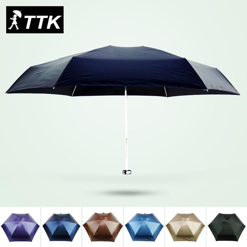 női esernyő férfi szuper mini ötszörös esernyő fekete TTK - Háztartási árucikkek
