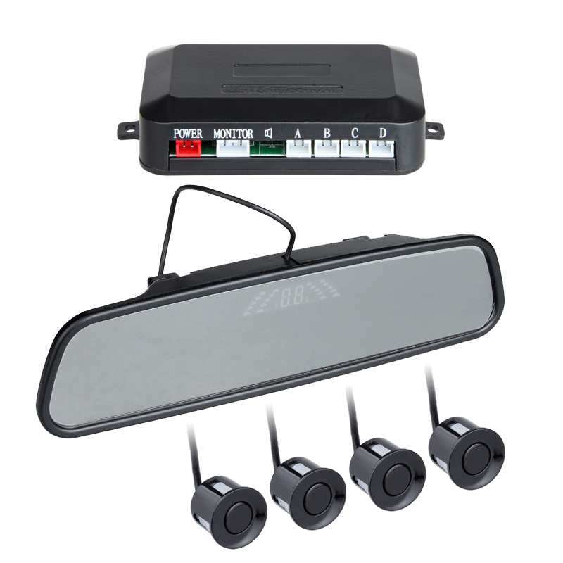 Car Parking Sensors With 4 Sensor Car Backup Reverse Radar Rearview Monitor Sound Alert Set Sensor