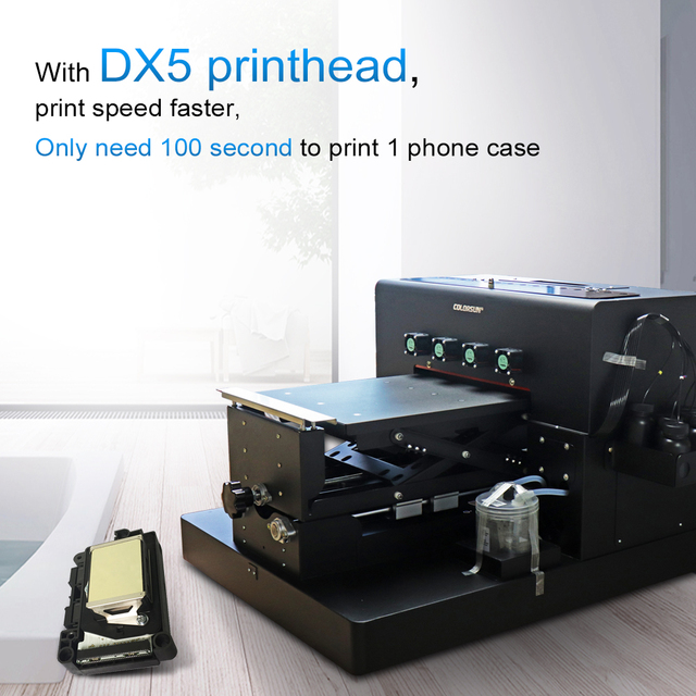 Colorsun 8 Color A3 Size UV Printer with DX5 printhead A3 UV Flatbed Printer for Phone Case Printer acrylic printer
