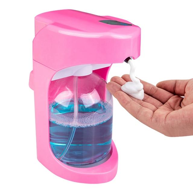 500 ml Otomatik köpük sabun sabunluğu Için Sıvı Sabun Duvar Monte Dağıtıcı Akıllı Sensör Fotoselli Banyo Mutfak Dağıtıcılar