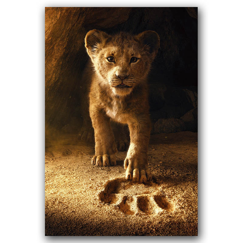 The Lion King Movie Poster Wall Art Canvas Print Canvas Painting 30x45 60x90cm Decorative Picture Wallpaper Living Room Decor