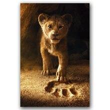 W król lew film plakat na ścianę płótno artystyczne wydruk płótna malarstwo 30x45 60x90cm dekoracyjny obraz tapety wystrój salonu