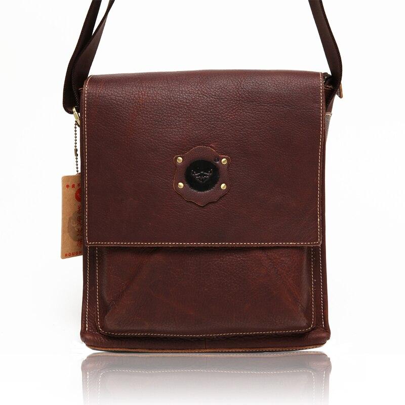 665c5499d9688 Reminisced genuine leather men s clothing bag male messenger bag oil  cowhide  0133