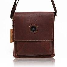 Reminisced genuine leather men's clothing bag male messenger bag oil cowhide #0133