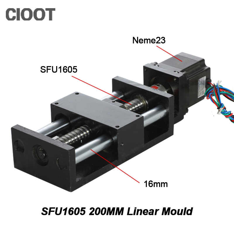 Cnc Router Linear Guide Rail Linear Guide Rail 200mm Module Effective Stroke Sfu1605 +23nema Stepper Motor For Xyz Cnc Table cnc router linear guide rail linear guide rail 200mm module effective stroke sfu1605 23nema stepper motor for xyz cnc table
