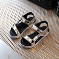 Niños Zapatos de La Princesa Zapatos de Las Muchachas 2017 de La Moda de Verano Sandalias de Las Muchachas Niños Diseñador Crecen Solos Zapatos Sandalias de Las Muchachas Ocasionales