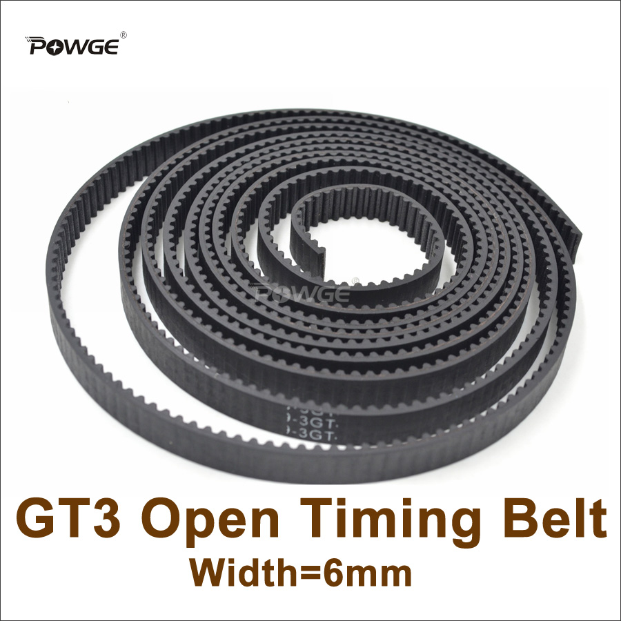 POWGE 5meters 3GT Timing Belt Width=6mm Fit 3GT Pulley 3GT-6 Rubber GT3 6 Open Timing Belt 3D Printer Accessory High Quanlity