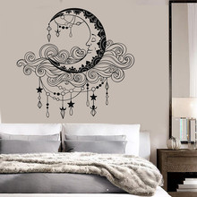 Boho Style Pattern Moon Clouds Wall Sticker Vinyl Art Removable Poster Mural Design Home Decoration W19