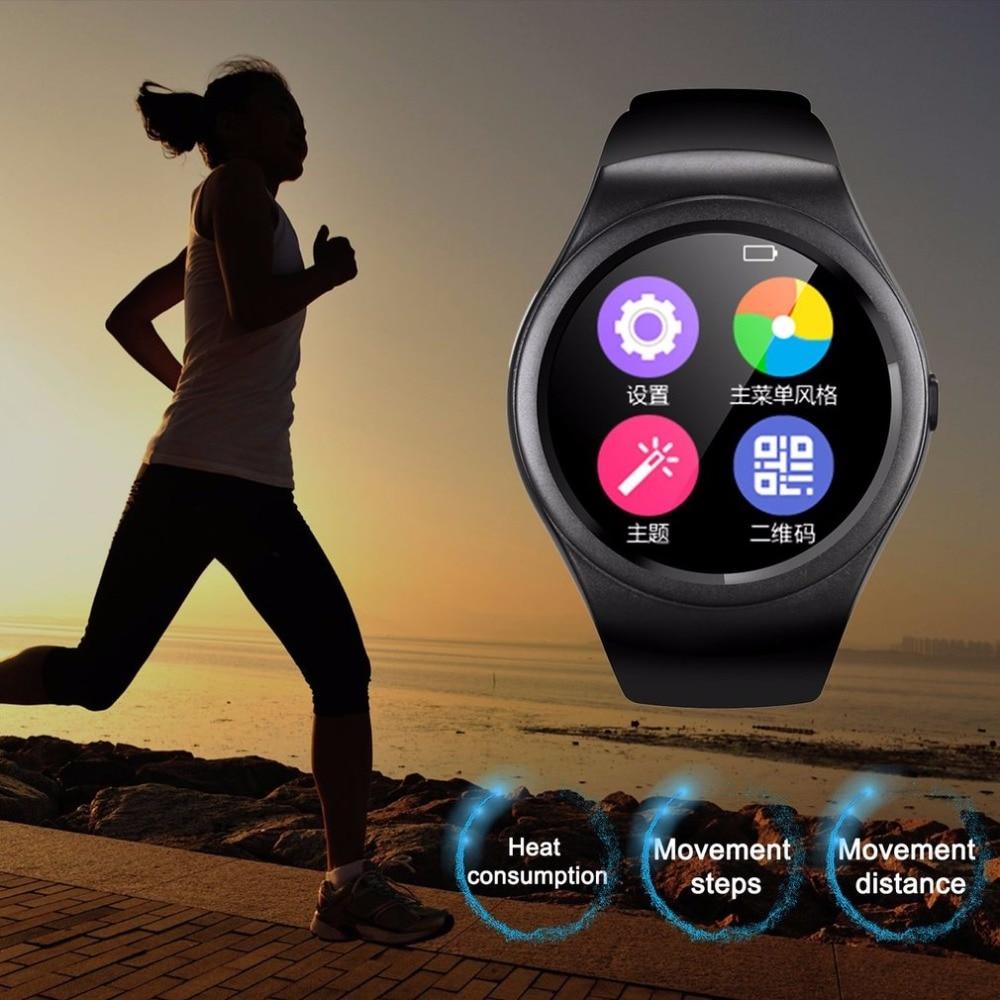 Multifonctionnel Bluetooth Montre Smart Watch Plein Cercle Écran Tactile Montre Sport Fitness Podomètre Soutien SIM TF Carte