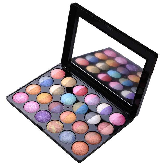 24-Color Shimmer Eyeshadow Cosmetic Makeup Bicolor Add Mixed-Color Ultra-practical Smudging Eyeshadow Palette Women