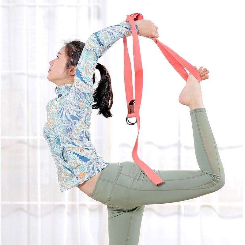 deluxe ekstra lang bomuld yoga bælte med D-ring gratis - Fitness og bodybuilding - Foto 4