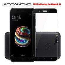 """2 PZ Xiaomi mi a1 bicchiere pieno copertura in vetro temperato per xiaomi Mi A1 5.5 """"protezione dello schermo per Xiomi A1 MiA1 protettiva pellicola di vetro"""
