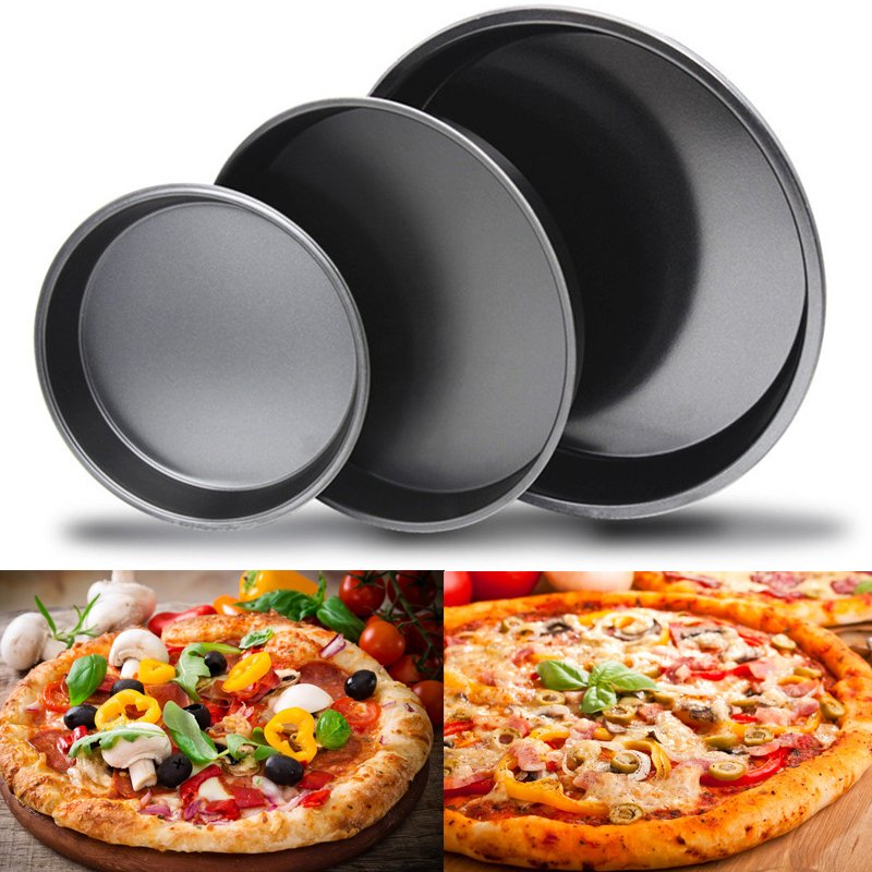 TTLIFE Non-Stick Pizza Stones Pan Cake Tool Bakeware Baking Accessories Kitchen 6/8/9/10 inch