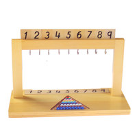 Wooden Montessori Math Toys Montessori Hanger For Colour Bead Stairs 1 9 Educational Early Learning Toys For Kids MI2864H