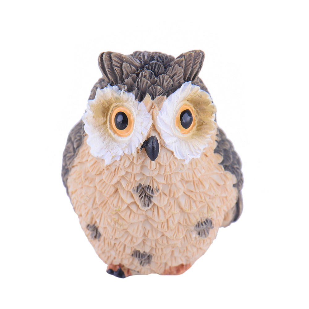 Owl lawn ornaments - Micro Landscape Decoration Fairy Garden Cute Owl Ornaments Home Decor Drop Shipping China Mainland
