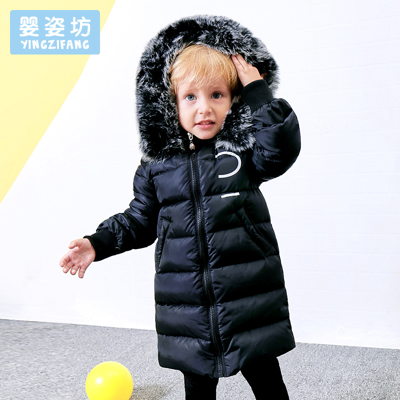 2017 Winter Baby Boys Jacket Toddler Outerwear  Casual Style Cotton Down Thick Hooded Coat Solid Color Jacket Coats women winter coat leisure big yards hooded fur collar jacket thick warm cotton parkas new style female students overcoat ok238