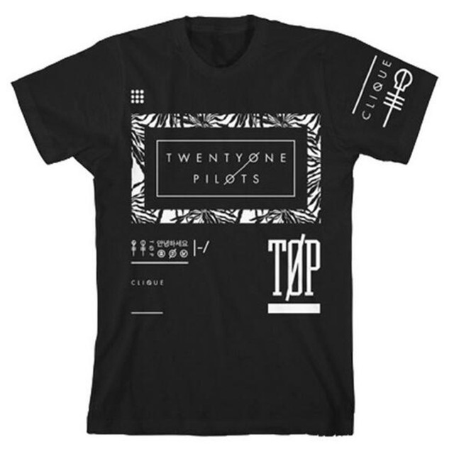 Hip Hop Twenty One Pilots T Shirt Men Funny T Shirts Streetwear Tshirt Men Fitness Tee Shirts Homme Luxe Camisetas Hombre