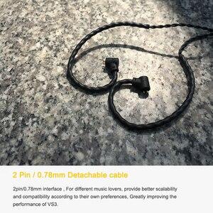 Image 5 - VSONIC VS3 EISBERG HiFi Audio Dynamische Treiber In ohr Kopfhörer mit Abnehmbarem Kabel 2Pin 0,78mm Stecker