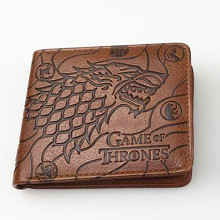 Men Male PU Leather Vintage Wallets A Song of Ice and Fire and Game of Thrones Zipper Coin Purse Credit Bank Card Case Holder