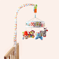 Baby Comfort Toy Musical Bed Bell Baby Crib Decoration Rotate Bracket Plush Toy